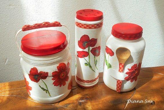 Tarros reciclados de cocina hechos con envases de plástico. Bricolaje, reciclaje, manualidades.