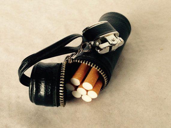 Cigarette Case//Cigarette Holder//Cigarette Box//Cigarette//Vintage Cigarette Holder With Lighter//Cigarette dispenser//Found And Flogged