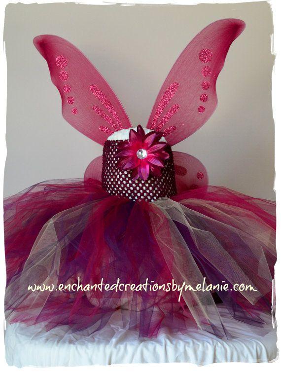 Woodland Fairy Tutu Dress with Wings. by EnchantedbyMelanie, $55.00