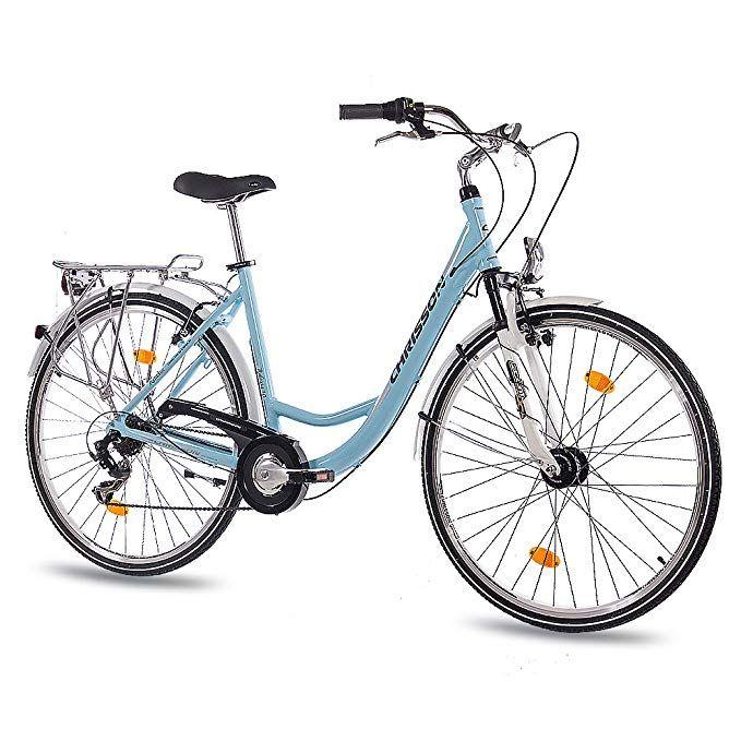 28 Zoll Luxus Alu City Bike Damenrad Fahrrad Chrisson Relaxia 1 0 Mit 6 Gang Shimano Light Blau Amazon De Sport Freizeit Damenfahrrad Fahrrad City Fahrrad
