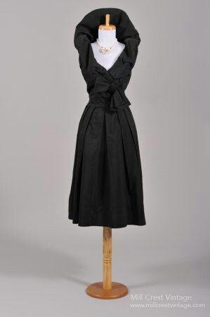 1950 SUZY PERETTE BLACK VINTAGE PARTY DRESS $195 Mill Crest Vintage