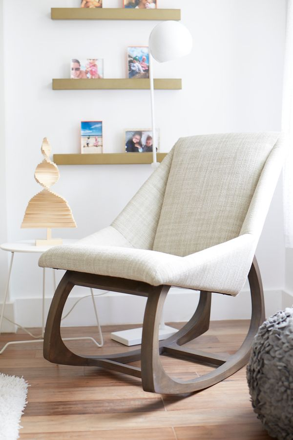 Designed by renowned furniture designer Maria Yee, this gorgeous rocking chair features a modern design, with simple lines and a sleek, elegant profile. Each artisan-crafted piece is handmade from sustainable bamboo for a lower carbon footprint. Plus, it's coated with an innovative water-based finish that's safe and eco-friendly. If that's not enough, the soft seat and backrest make it as comfy as it is stylish.