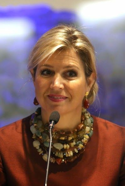 HM Queen Maxima of The Netherlands attends the Financial Inclusion: The Next Move Forward conference at America Square Conference Centre on 19.01.2015 in London, England