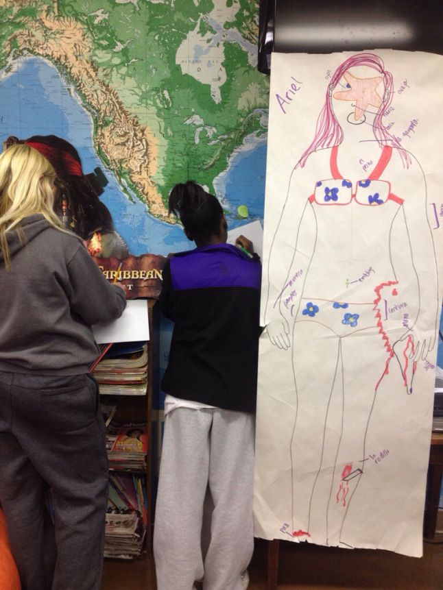 BEST BODY PARTS UNIT IDEA EVER! Carrie Toth is a genius. Her students traced themselves and labeled at least three (imaginary) symptoms that they were experiencing. Classmates had to give a diagnosis, cause, and cure! Love it!