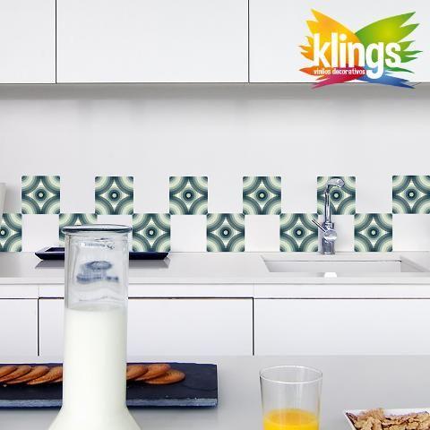 Vinilos Decorativos - Azulejos de 15 x 15 modelo DECO CHIC. WALL STICKER DECOR.