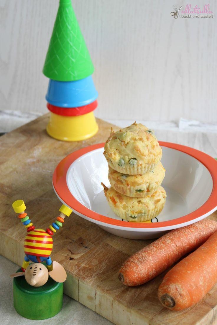 Hier findet ihr ein einfaches Rezept für Muffins mit Erbsen und Möhren, gesund und vegetarisch und besonders Kinder lieben sie.