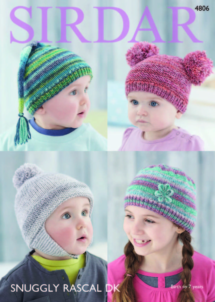 c908092aaab Hats in Sirdar Snuggly Rascal DK - 4806 - Downloadable PDF