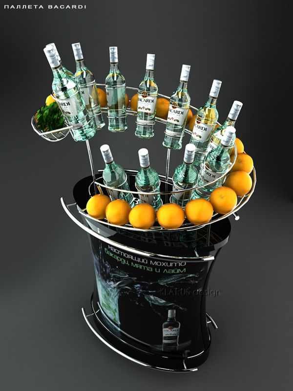 Retail Point of Purchase Design   POP Design   Alcohol  Soft Drinks POP   Bacardi