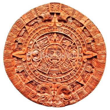 Aztec calendar Stone of the Sun Royalty Free Stock Photo