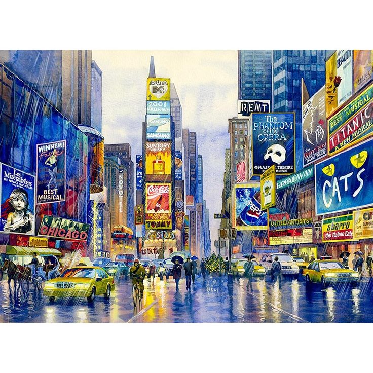 Watercolor New York: 20 Best New York Watercolor Paintings Images On Pinterest