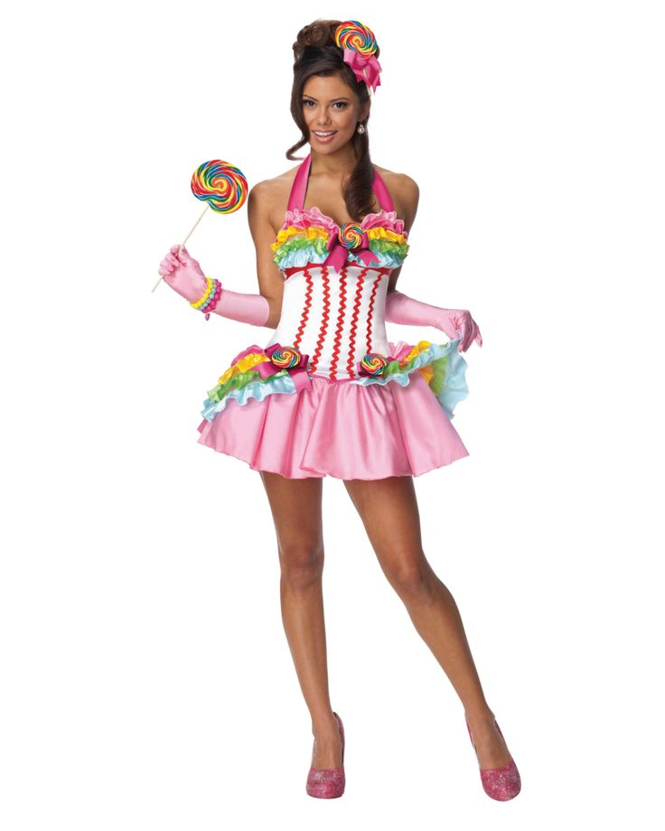 Witch sexy candy corn halloween adult costume