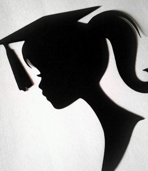 Graduation Barbie Silhouette Die Cut Paper by FreshCutsbyLauriBeth, $2.50