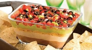 Gluten-Free 7 Layer Fiesta Dip: From football parties to Cinco de Mayo celebrations, serve this classic party dip when you are entertaining a crowd.
