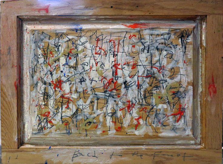 aatoth franyo: Vissza az erdőbe II. / Back into the Wood II. - 2013 - 46x60 cmolaj, fa / oil on wood