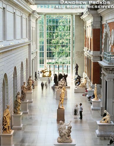 NYC. Interior of the Metropolitan Museum's Petrie Court.