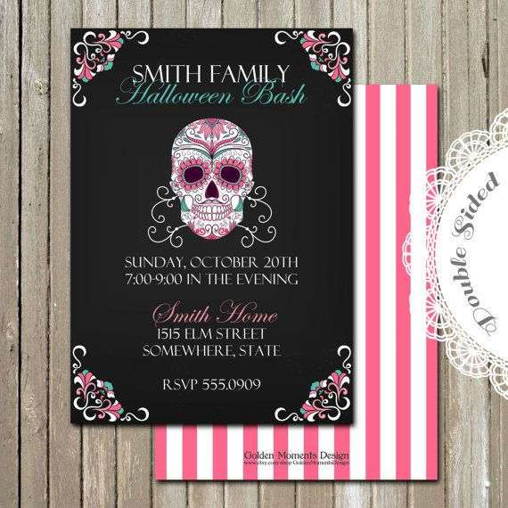 Printable Invitation - Halloween Party - Halloween Invitation - Customized