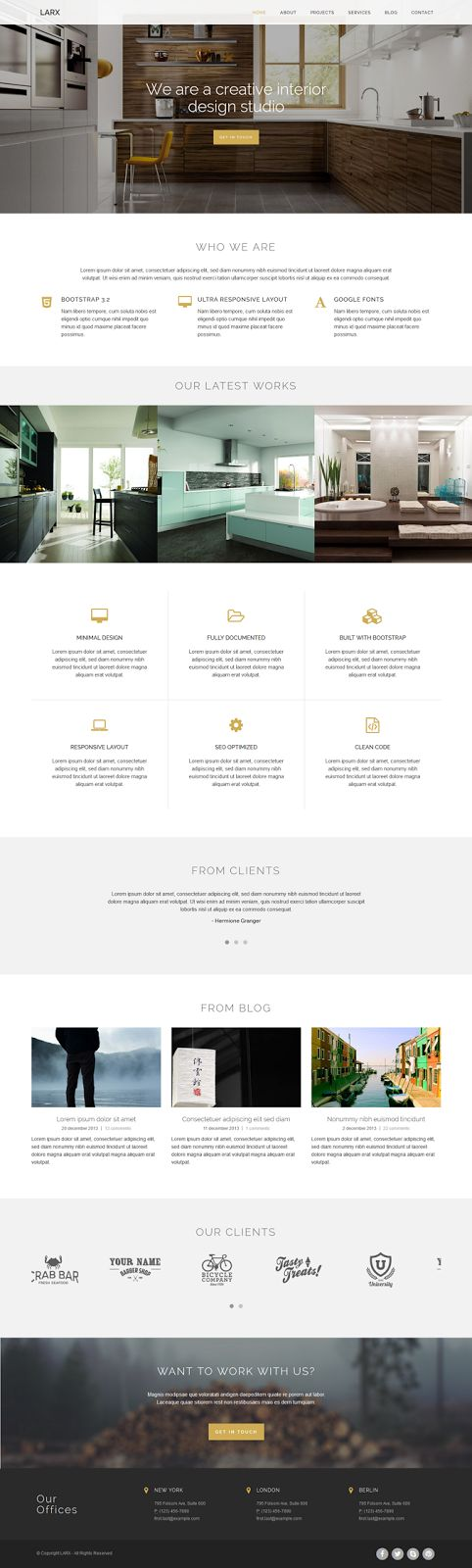 16 best images about bootstrap themes on pinterest for Interior design business website