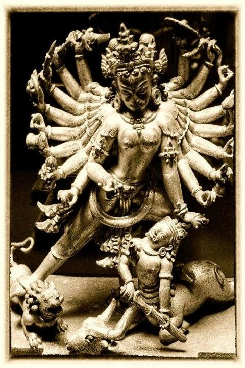 Durga.   I 'm guessing there is one hell of a bitch slap about to commence.