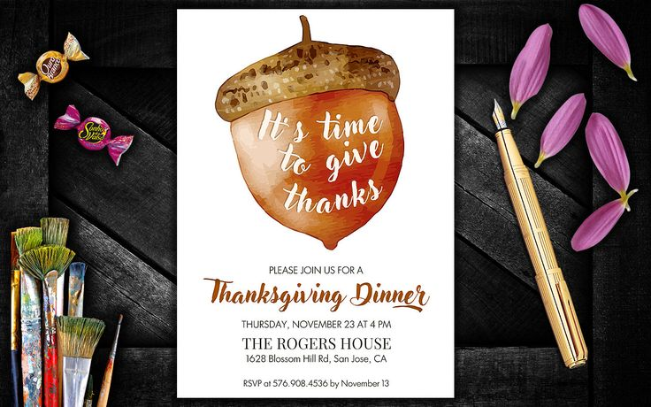 Thanksgiving Invitations, Thanksgiving Invitations Instant Download, Thanksgiving dinner invite, Thanksgiving Party Invitation by PrintablesForEvents on Etsy