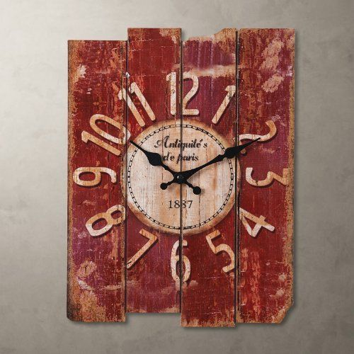 "Porch-O 15"" Country Style Vintage Wall Clock  #Clock #Country #PorchO #RusticWallClock #Style #Vintage #Wall The Rustic Clock"