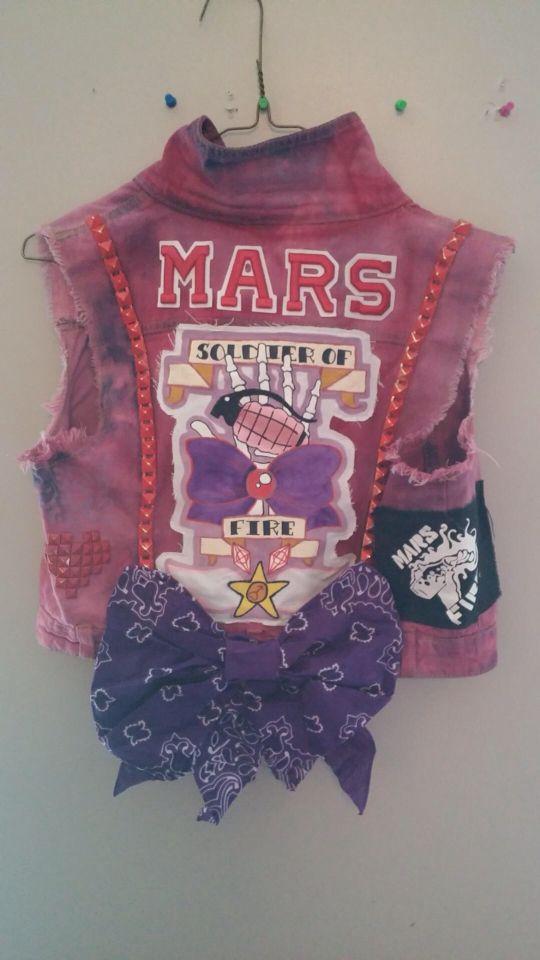 Sailor moon Mars punk vest