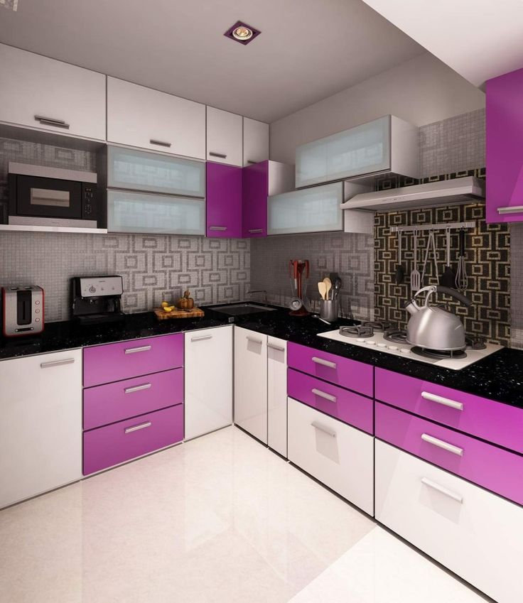 Small Kitchens Cabinets: Small Purple Kitchen Cabinets Images