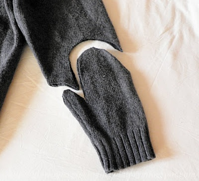 Giorno per giorno: Idee regalo da un vecchio maglione #1: muffole