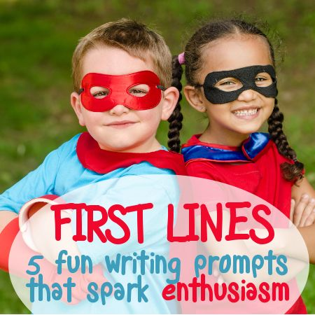 5 first lines: Fun writing prompts that spark enthusiasm