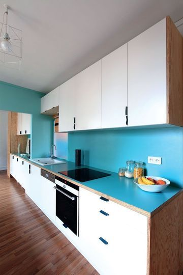 23 best cuisine images on Pinterest Home ideas, Arquitetura and - plan de travail cuisine rouge
