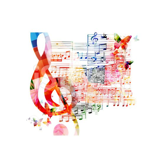 Colorful Musical Background Stock Vector Art 65981613