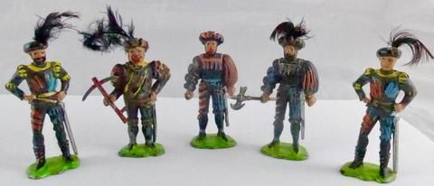 Timpo Quentin Durward collection of five figures