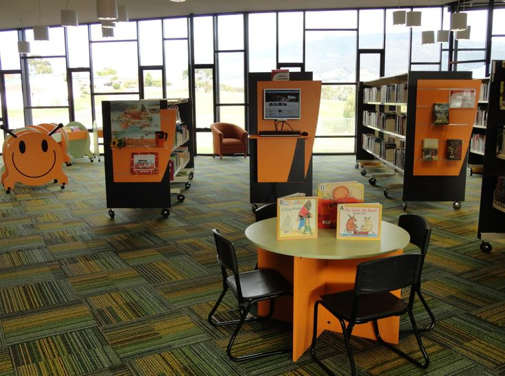 Colourful, Fun and Vibrant Library Interiors from Raeco Library Solutions. www.raeco.com.au