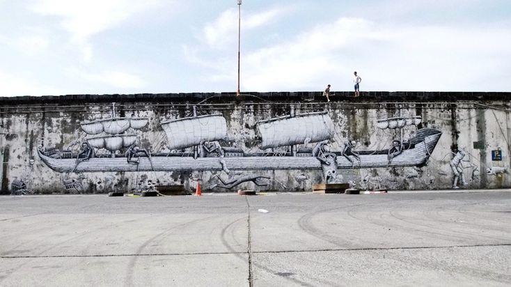 Phlegm , street art