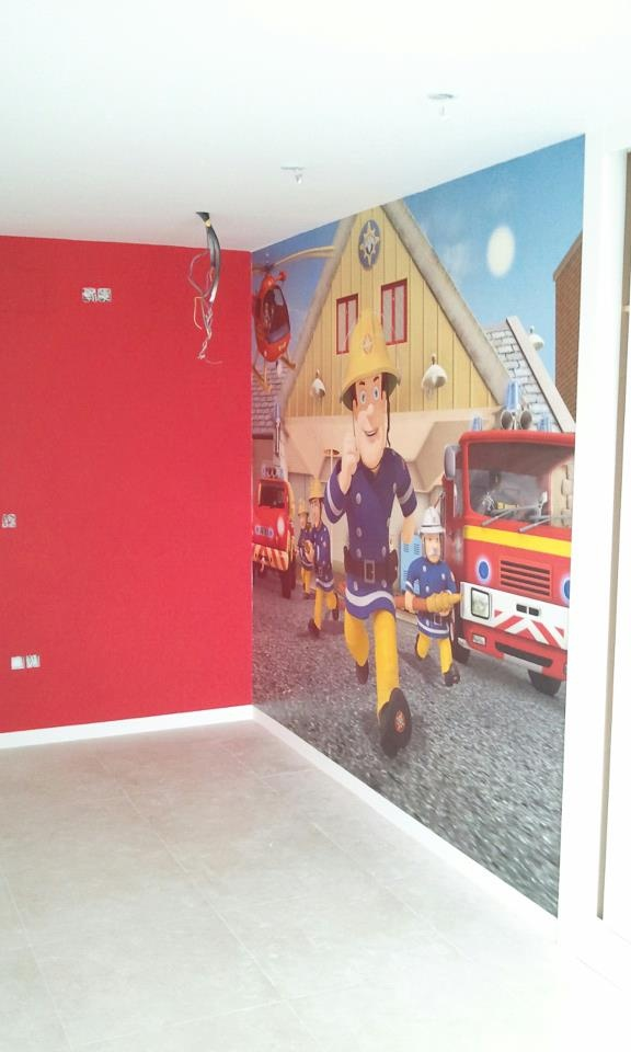 Fireman Sam Mural Kid 39 S Bedroom They Love It Fireman Sam Pinterest Kid Love And Firemen