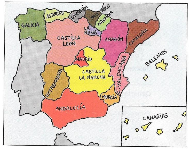 mapa peninsula