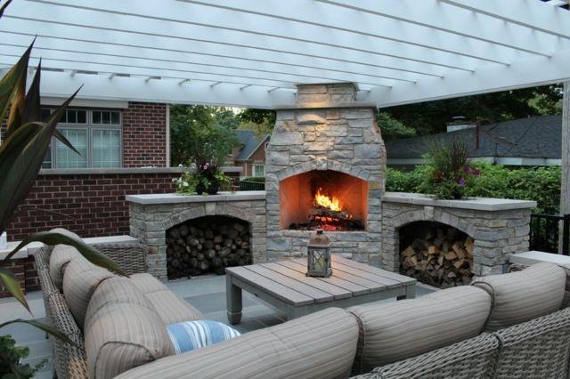 Die besten 25+ Außenkamin Designs Ideen auf Pinterest Outdoor - Sofa Im Garten 42 Gestaltungsideen Fur Gemutliche Sitzecken Im Freien