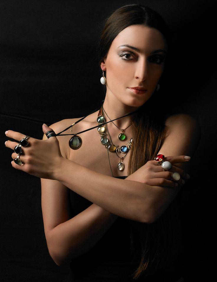 Styling :Rena Gantzaki.make up and hair:Rena Gantzaki. Jewellery hand made: Alexandra Karousias