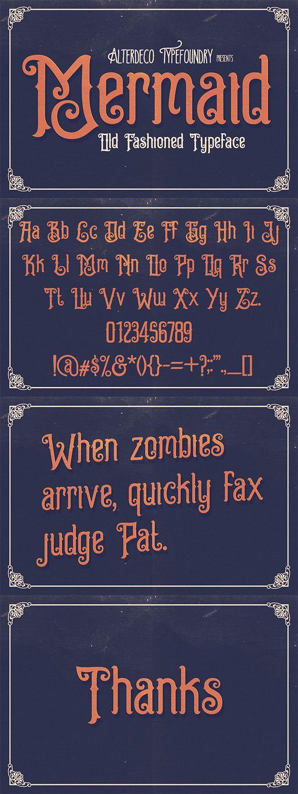 Mermaid Typeface. Download here: http://graphicriver.net/item/mermaid-typeface/16703664?ref=ksioks