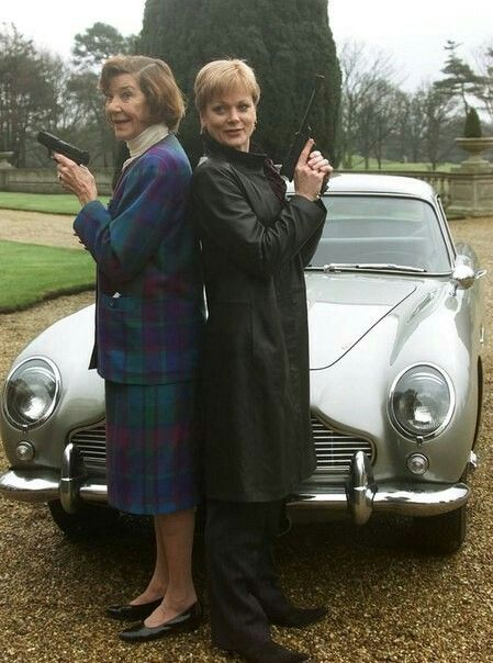 Moneypenny & Moneypenny... Lois Maxwell and Samantha Bond (circa 1999)