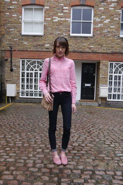 J Brand jeans - Gap shirt - whistles bag - Bobbies loafers