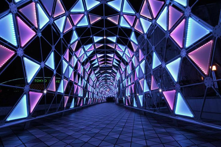 Tunnel in Tokyo Dome at Christmas Time (via Japan Today)