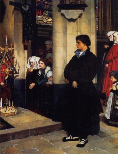 役務中・マルティンルターの疑い Pendant L'Office (Martin Luther's Doubts)(1860)