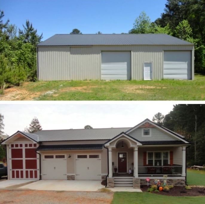 25 best ideas about diy pole barn on pinterest metal for Metal buildings into homes