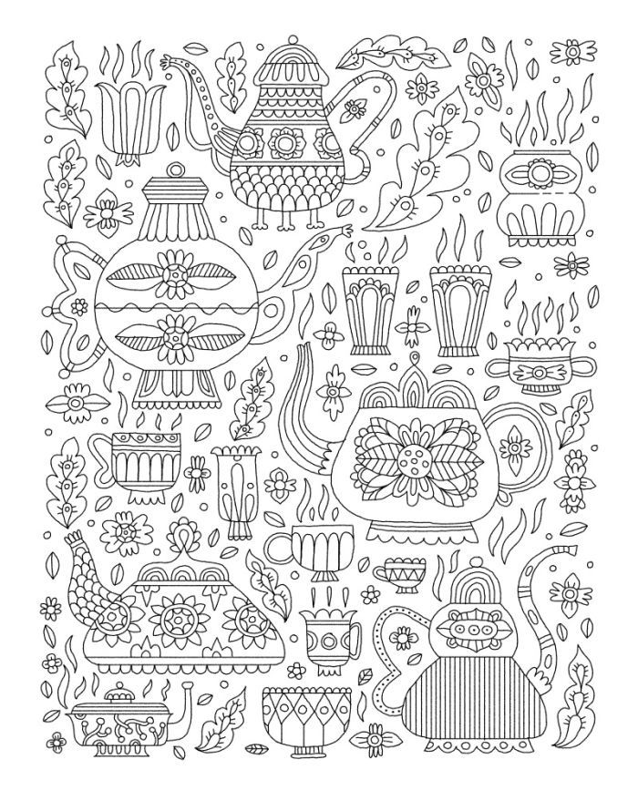 725 best ✐☕Adult Colouring~Coffee~Tea~Cakes ☕✐ images on Pinterest