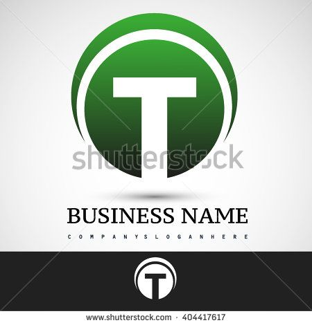 Letter T logo icon design template elements on green circle  - stock vector