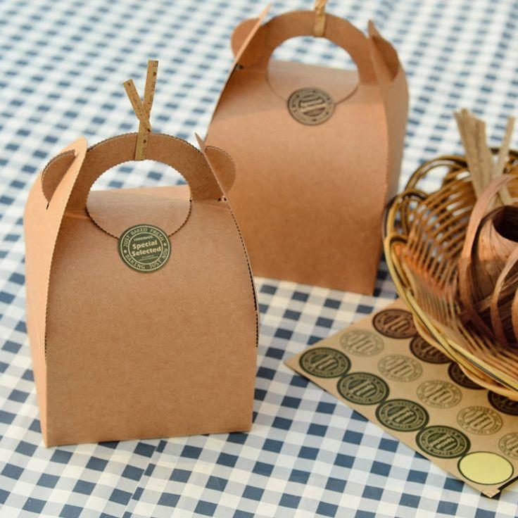 Kraft Gift Boxes (10 Pcs) //Price: $18.60 & FREE Shipping //     #hashtag4