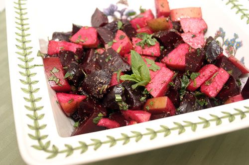 Apple and Beet Salad with Maple, Coriander and Mint