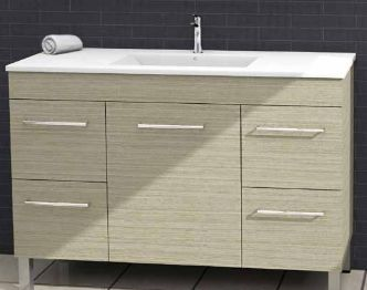 Bargo Vanity Oyster Linea Cabinet