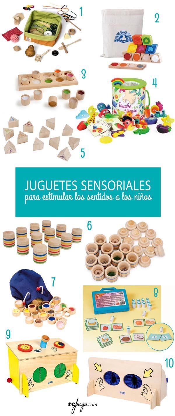 selección de juguetes sensoriales para niños