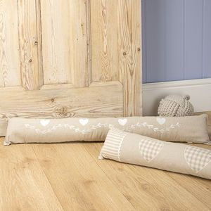 Appliqued Fabric Draught Excluder - cushions